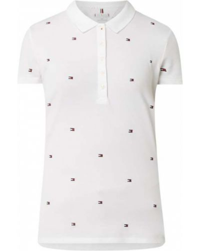 Biały t-shirt bawełniany Tommy Hilfiger