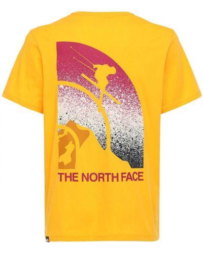 Ватная хлопковая футболка золотая The North Face
