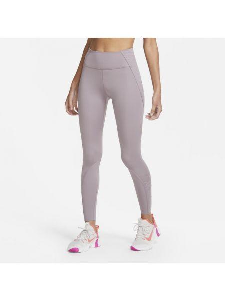 Fioletowe legginsy na co dzień Nike
