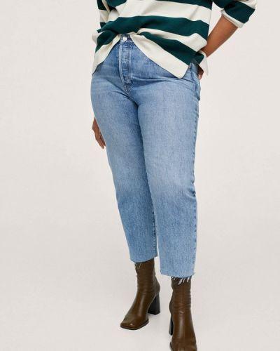 Голубые джинсы осенние Violeta By Mango