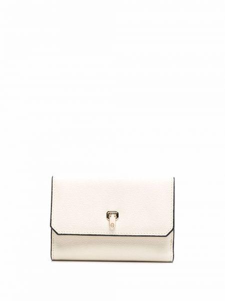 Biały portfel skórzany Valextra