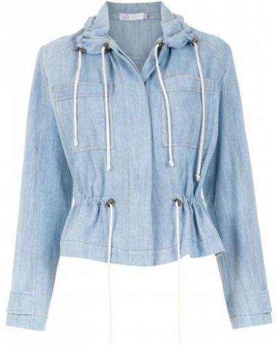 Прямая синяя джинсовая куртка Nk