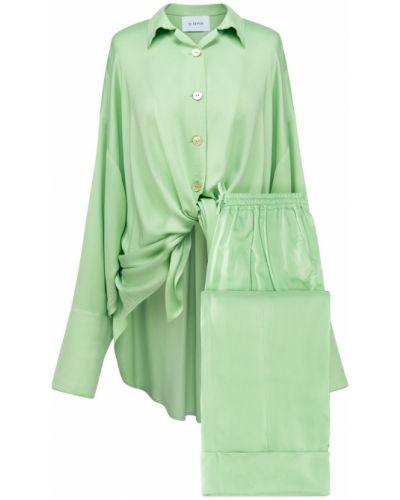 Zielona satynowa piżama Sleeper