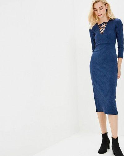 Платье футляр - синее Freespirit
