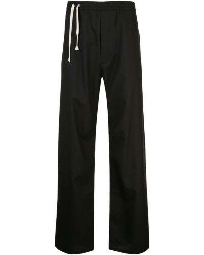Расклешенные черные спортивные брюки с карманами Siki Im