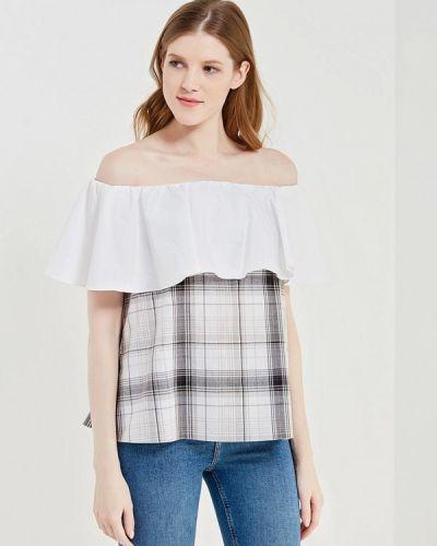 Серая блузка с открытыми плечами ли-лу