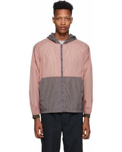 Długa kurtka khaki z nylonu z długimi rękawami Nanamica