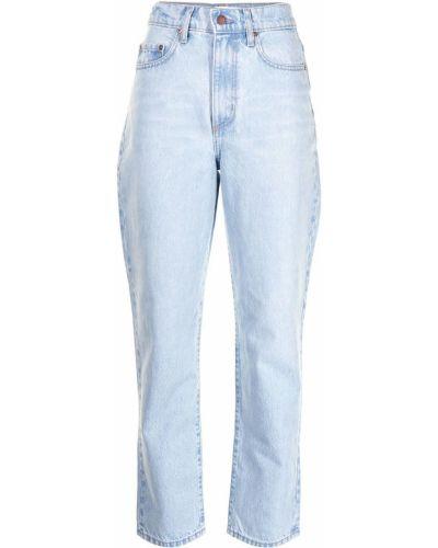 Синие прямые джинсы классические на молнии Nobody Denim