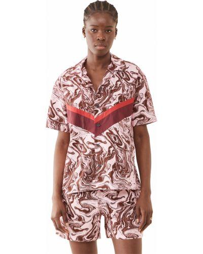 Розовая хлопковая рубашка с короткими рукавами Toga Pulla