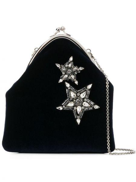 Szara torebka na łańcuszku srebrna Ca&lou