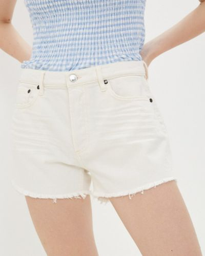 Бежевые джинсовые шорты Guess Jeans