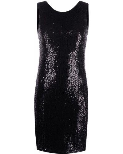 Прямое черное платье мини с пайетками Liu Jo