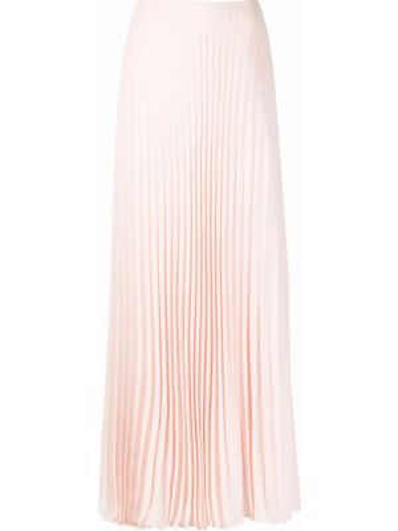 Плиссированная ажурная розовая юбка макси Noon By Noor