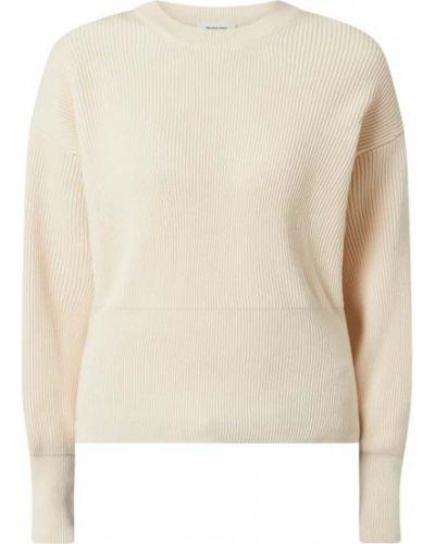 Sweter bawełniany - biały Modström