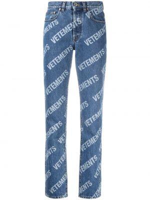 Укороченные джинсы - синие Vetements