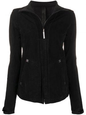 Черная кожаная длинная куртка с длинными рукавами Isaac Sellam Experience