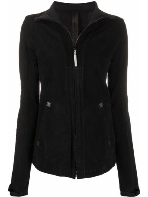 С рукавами замшевая черная длинная куртка пэчворк Isaac Sellam Experience