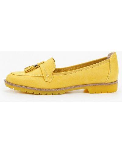 Текстильные желтые лоферы Marco Tozzi