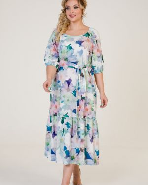 Платье миди с поясом платье-сарафан марита