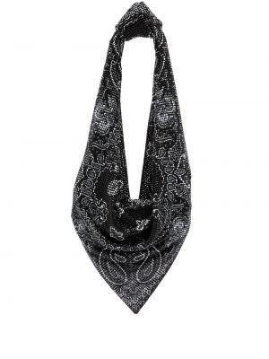 Czarny szalik z printem Alexander Wang