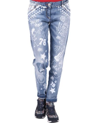 Хлопковые джинсы - синие Philipp Plein