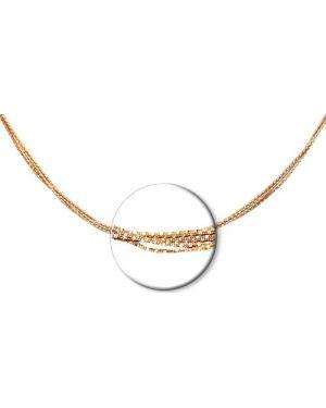 Цепочка из золота розовый из серебра Sokolov