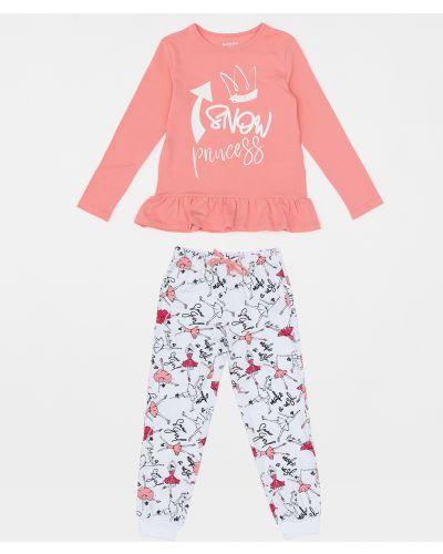 Мягкая хлопковая розовая пижама Button Blue