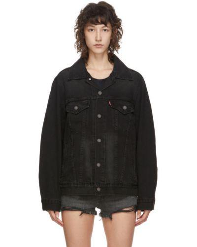 Черная джинсовая куртка с манжетами с воротником на пуговицах Levi's®