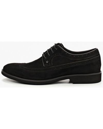 Туфли замшевые черные Guido Grozzi