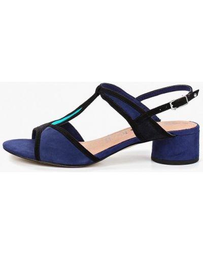 Босоножки на каблуке синий Tamaris