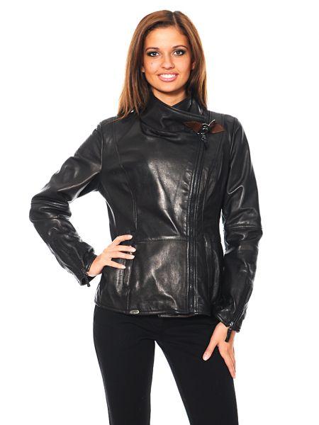 Кожаная куртка - черная Mor`a