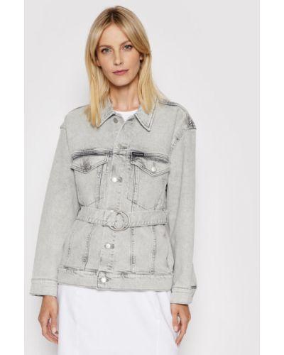 Szara kurtka jeansowa oversize Calvin Klein Jeans