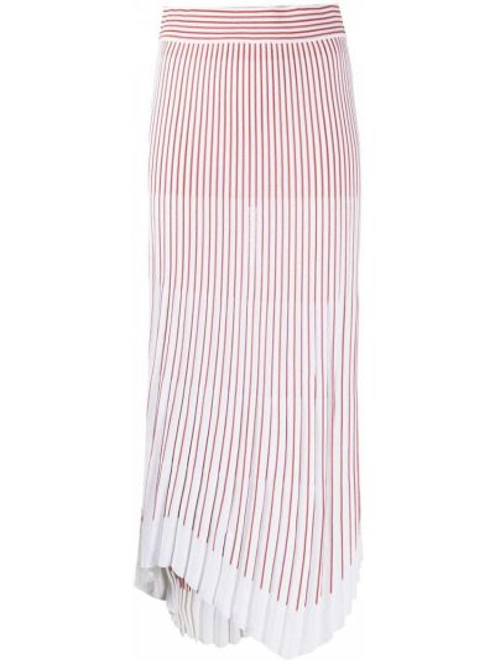 Белая плиссированная юбка из вискозы Mrz