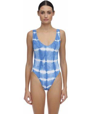 Niebieski strój kąpielowy bezszwowy Bond Eye