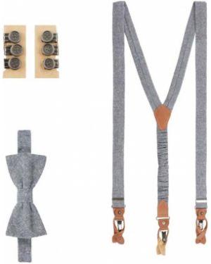 Krawat z haftem zestaw Seidenfalter