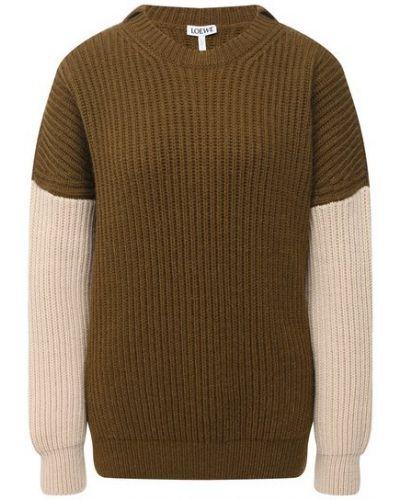 Шерстяной свитер - зеленый Loewe