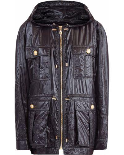Куртка с капюшоном с поясом с карманами Balmain