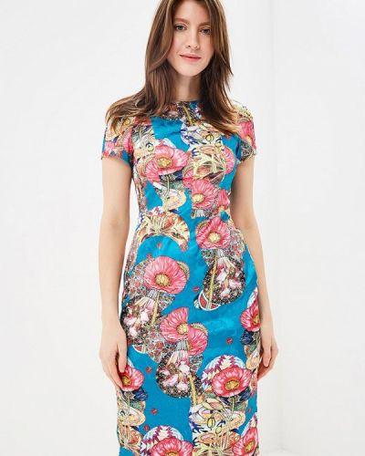 Платье миди синее мадам т