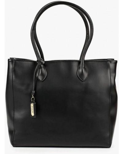 Кожаный сумка с ручками черный Fabretti