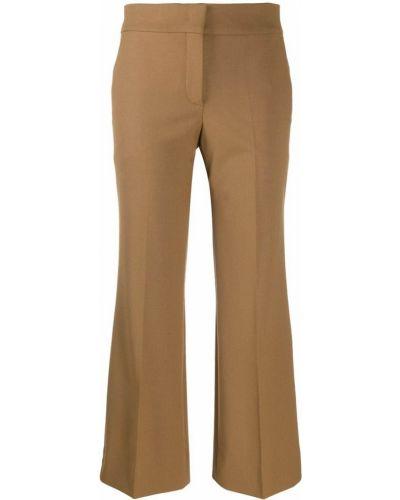 Укороченные брюки расклешенные с карманами Piazza Sempione