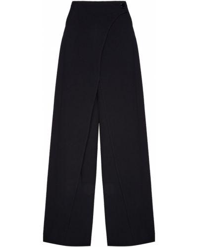 Свободные черные брюки с запахом Adolfo Dominguez