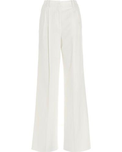 Białe spodnie Agnona