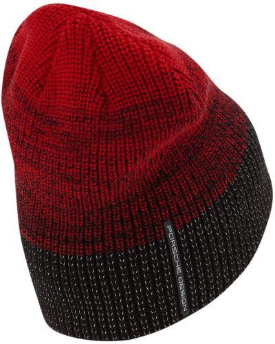 Шерстяная шапка бини - красная Puma