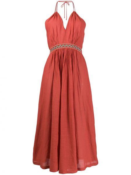 Платье с вышивкой с V-образным вырезом Forte Forte