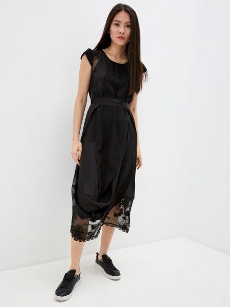 Вечернее платье с завышенной талией черное High