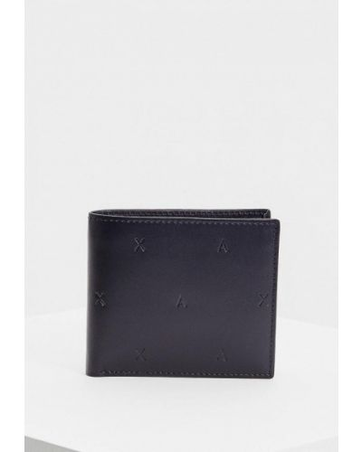 Синий кошелек индийский Armani Exchange