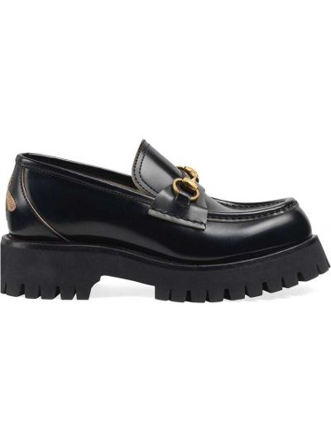 Klasyczne czarne loafers skorzane Gucci
