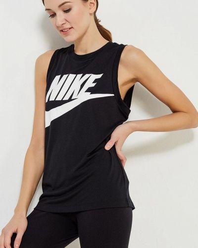 Черная майка Nike