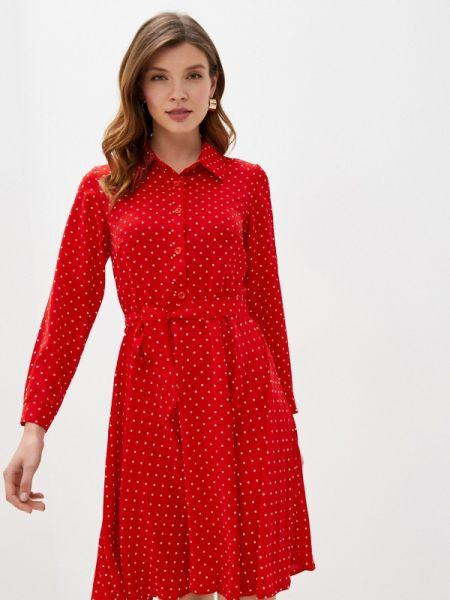 Платье платье-рубашка красный Trendyangel