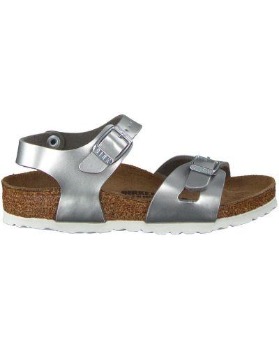 Szare sandały sportowe srebrne eleganckie Birkenstock